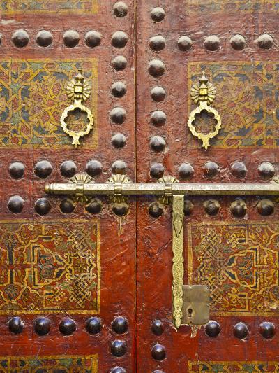 Ornate Door, Sidi Ahmed Tijani Mosque, the Medina, Fes, Morocco-Doug Pearson-Photographic Print