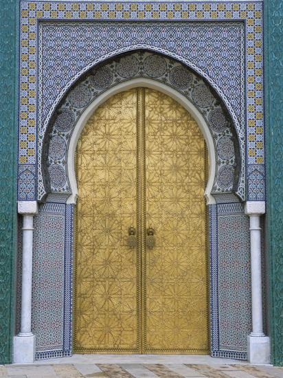 Ornate Doorway, the Royal Palace, Fez, Morocco, North Africa, Africa-R H Productions-Photographic Print