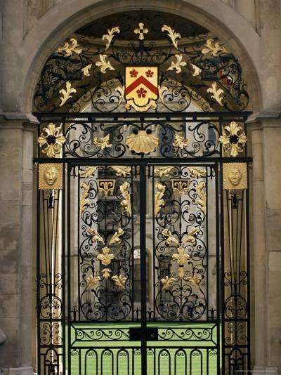 Ornate Gilt Gate of All Souls' College, Oxford, Oxfordshire, England, United Kingdom-Ruth Tomlinson-Photographic Print