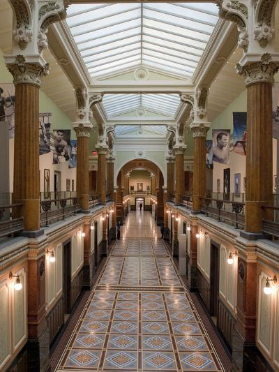 Ornate Interior and Tiled Floor at the National Gallery-Greg Dale-Photographic Print