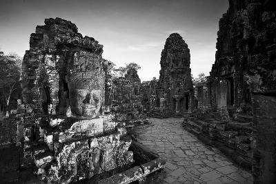 Ornate Stone Carvings at the Buddhist Pyramid Temple, Bayon-Jim Ricardson-Photographic Print
