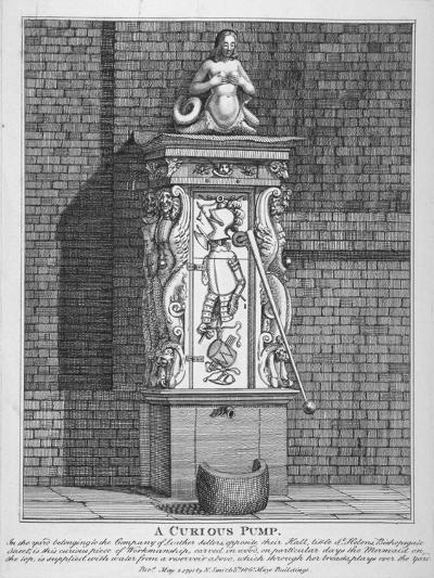Ornate Water Pump in the Yard at Leathersellers' Hall, Little St Helen's, City of London, 1791-John Thomas Smith-Giclee Print