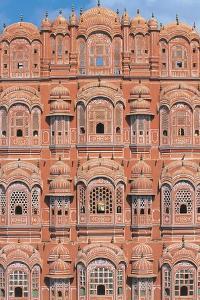 Ornated Windows in a Palace, Hawa Mahal, Jaipur, Rajasthan, India