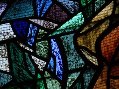 Ornately and Elaborately Decorative Stained Glass Windows of Cathedral--Photographic Print