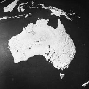 Orographical Map of Australia