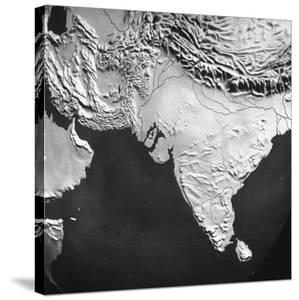 Orographical Map of India and Afghanistan