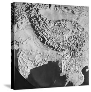 Orographical Map of Tibet and Mt. Everest