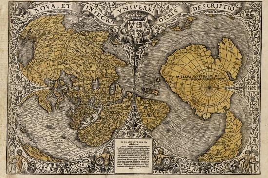 Oronce Fine's World Map, 1531-Library of Congress-Photographic Print