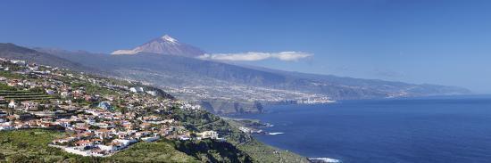 Orotava Valley to North Coast and Puerto De La Cruz and Pico Del Teide, Canary Islands, Spain-Markus Lange-Photographic Print