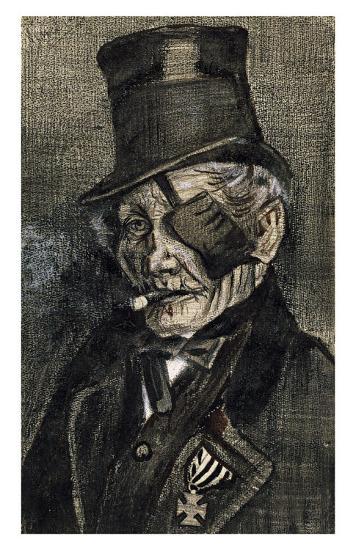 Orphan Man in Sunday with Eye Bandage-Vincent van Gogh-Art Print
