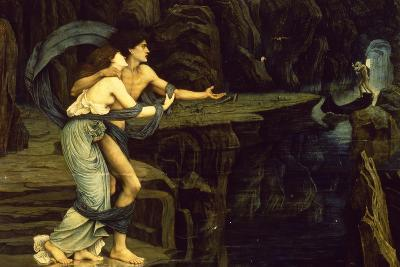 Orpheus and Eurydice on the Banks of the River Styx-John Roddam Spencer Stanhope-Giclee Print