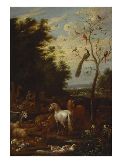 Orpheus Charming the Animals-Lambert De Hondt-Giclee Print