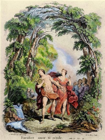 Orpheus Leading Eurydice Out of Hell for the Opera 'Orpheus and Eurydice' by Christoph Von Gluck (1-Charles Monnet-Giclee Print