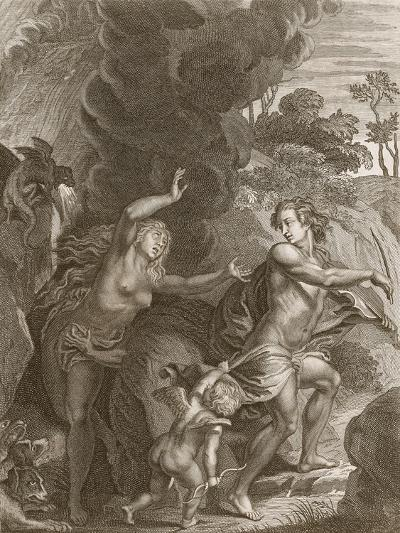 Orpheus, Leading Eurydice Out of Hell, Looks Back Upon Her and Loses Her Forever, 1731-Bernard Picart-Giclee Print
