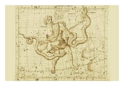Orphiucus and Serpens-Sir John Flamsteed-Art Print