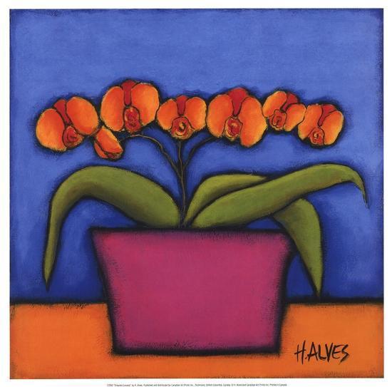 Orquidia Laranja-H^ Alves-Art Print
