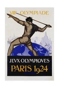 Jeux Olympiques, Paris 1924 Poster by Orsi