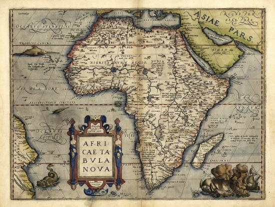 Ortelius's Map of Africa, 1570 Photographic Print by Library of Congress |  Art com