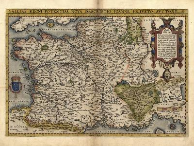 Ortelius's Map of France, 1570-Library of Congress-Photographic Print