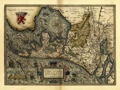 Ortelius's Map of Holland, 1570-Library of Congress-Photographic Print