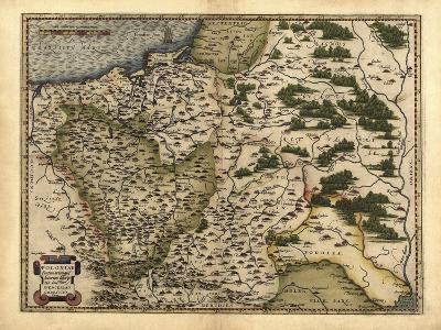 Ortelius's Map of Poland, 1570-Library of Congress-Photographic Print