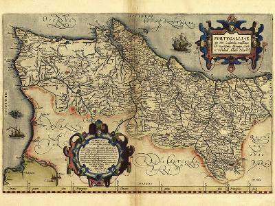 Ortelius's Map of Portugal, 1570-Library of Congress-Photographic Print