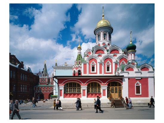 Orthodox Church at Red Square, Moscow, Russia--Art Print