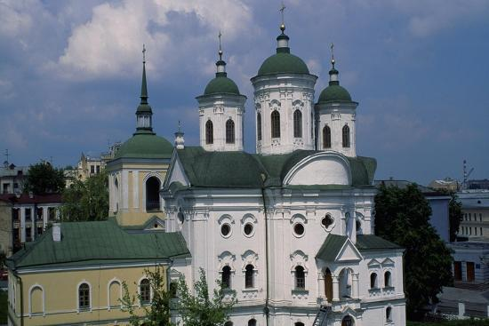 Orthodox Church in Historic Podol Neighborhood of Kiev, Ukraine--Giclee Print