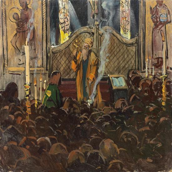 Orthodox Mass-Franz Roubaud-Giclee Print