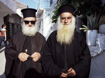 Orthodox Priests, Parga, Greece-Loraine Wilson-Photographic Print