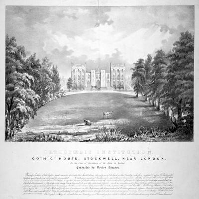 Orthopaedic Institution, Gothic House, Stockwell, Lambeth, London, C1840-A Friedel-Giclee Print