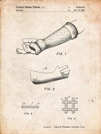 Orthopedic Hard Cast Patent-Cole Borders-Art Print