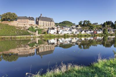 Ortsansicht and Church, St. Laurentius, Saarburg, Rhineland-Palatinate, Germany, Europe-Markus Lange-Photographic Print