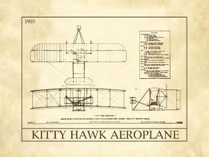 Kitty Hawk Aeroplane by Orville & Wilbur Wright