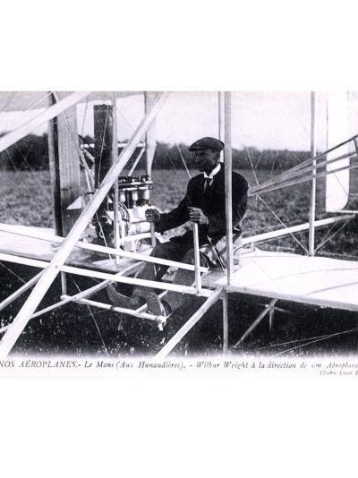 Orville Wright Biplane--Giclee Print