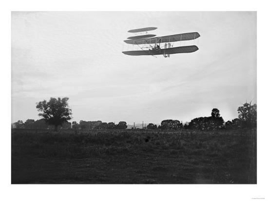 Orville Wright Flies High in the Sky Photograph - Dayton, OH-Lantern Press-Art Print