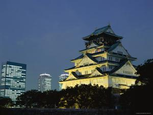 Osaka Castle and City Skyline, Osaka, Honshu, Japan