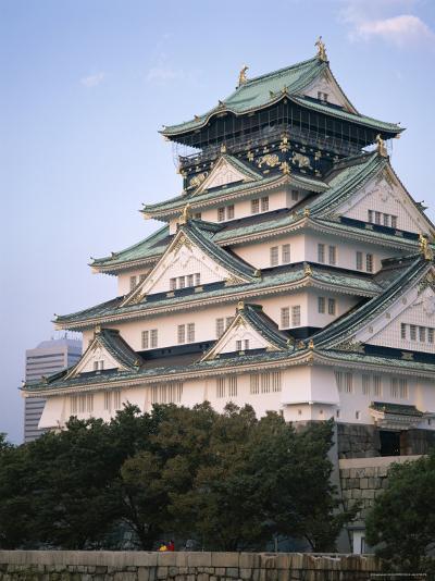 Osaka Castle, Osaka, Honshu, Japan--Photographic Print