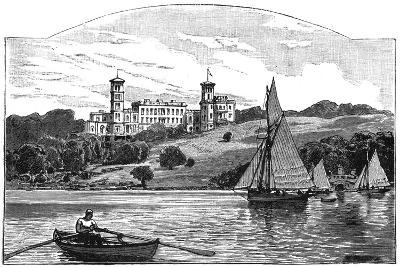 Osborne House from the Solent, East Cowes, Isle of Wight, 1900--Giclee Print