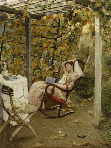 In the Pergola, 1894 by Oscar Bluhm