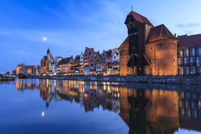 Gdansk Old Town On The Banks Of Motlawa River. Pomeranian Voivodeship. Poland