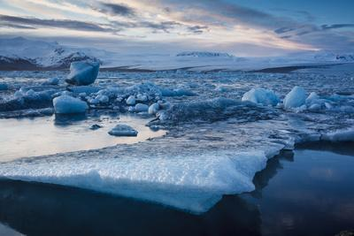 Glacier Ice Floating In The Jokulsarlon Glacier Lagoon. Vatnajokull National Park. Iceland