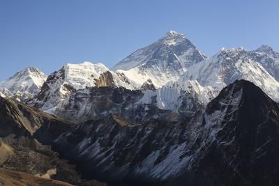 Mount Everest From Gokyo Ri. Sagarmatha National Park. Solukhumbu District. Nepal