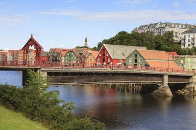 Old Town Bridge Or Gamle Bybro. Trondheim. Sor-Trondelag. Norway