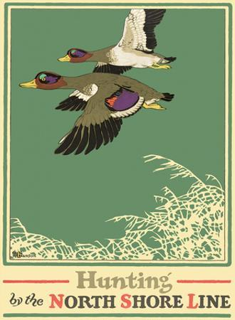 Hunting by the North Shore Line - Wild Ducks - Chicago, North Shore & Milwaukee Railroad Co.