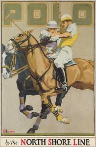 Polo Players - Chicago North Shore Line & Milwaukee Railroad by Oscar Rabe Hanson