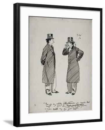 Oscar Wilde and Whistler, 1894-Phil May-Framed Giclee Print