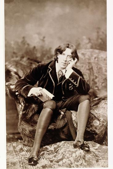 Oscar Wilde, Irish born wit and playwright, 1882-Unknown-Photographic Print