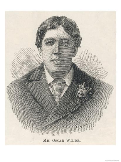 Oscar Wilde, Irish Playwright Author and Celebrity--Giclee Print