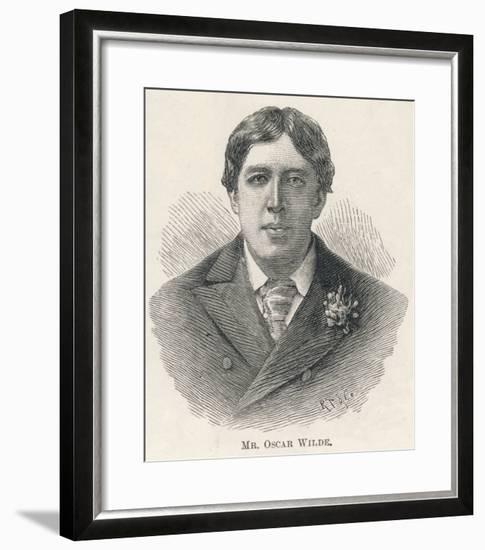 Oscar Wilde, Irish Playwright Author and Celebrity--Framed Giclee Print